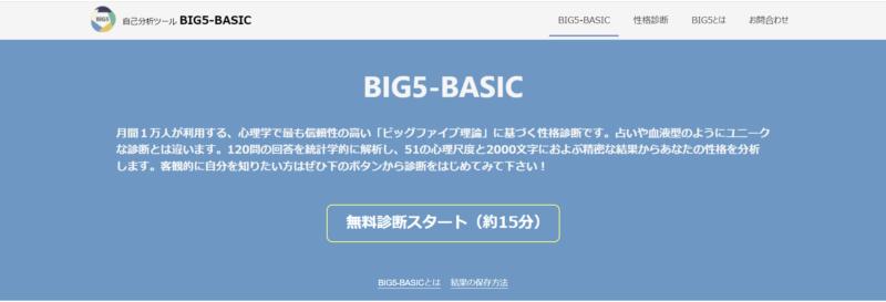 自己分析ツール BIG5-BASIC